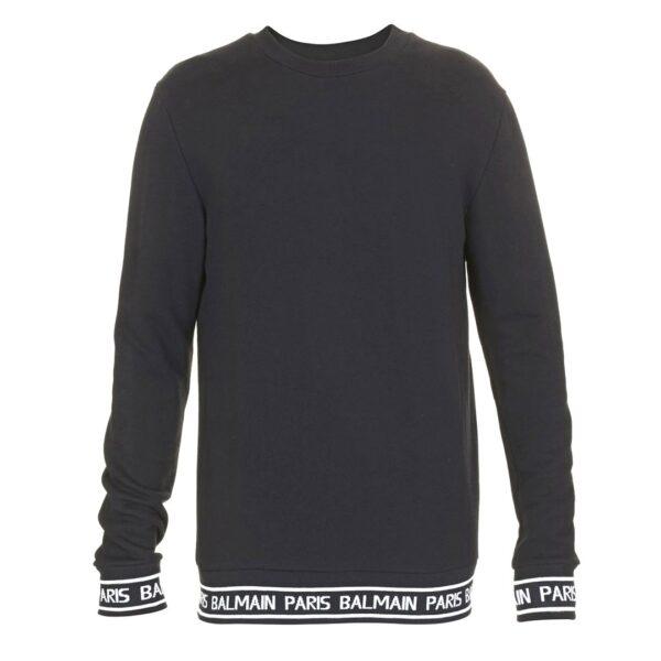 BALMAIN PARIS SWEATER-BLACK