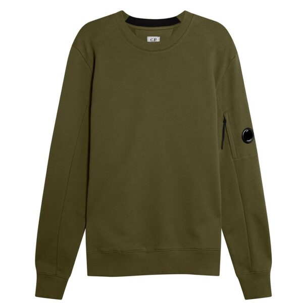 CP COMPANY - LENS SWEATER OLIVE GREEN