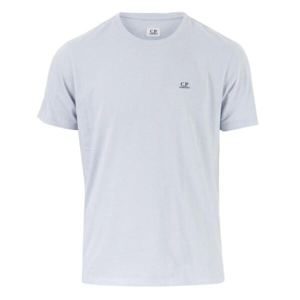 CP COMPANY T-SHIRT WITH PRINTED BACK LIGHT BLUE
