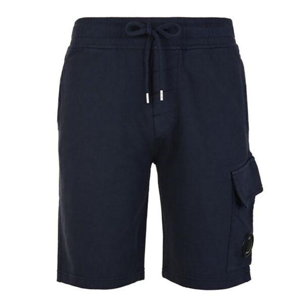 CP Company Lens Cotton Shorts - Navy