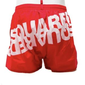 DSQUARED2 - LOGO PRINT SHORTS - RED