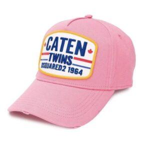 DSQUARED2 CATEN TWINS CAP - PINK