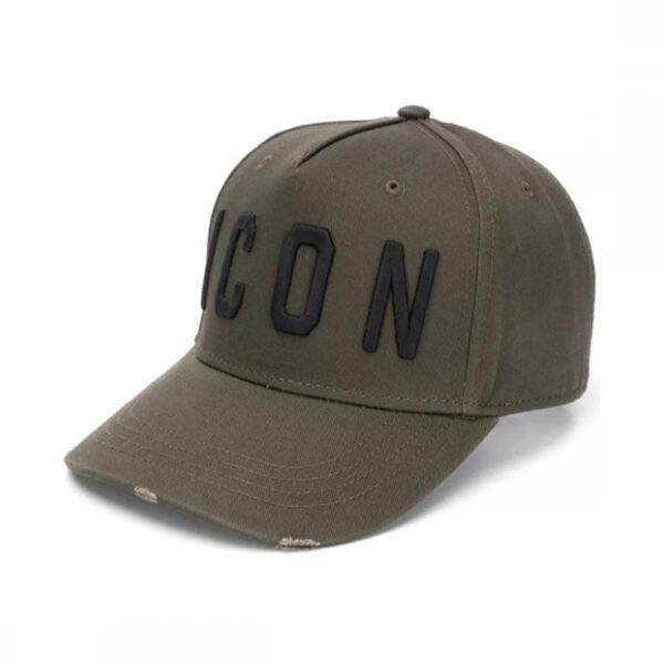 DSQUARED2 ICON CAP IN GREEN/BLACK