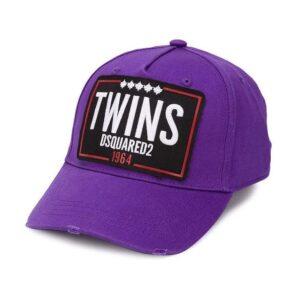 DSQUARED2 TWINS CAP - PURPLE