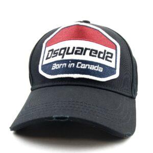DSQUARED2 BORN IN CANADA CAP -BLACK