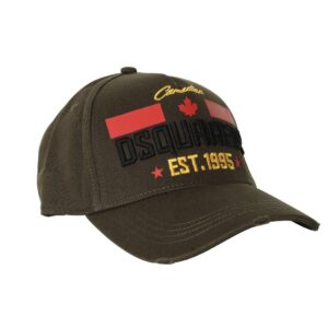 Dsquared2 Embroidered Logo Cap in Khaki