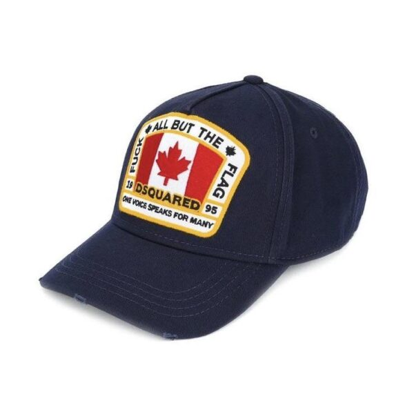 DSQUARED2 FLAG CAP - NAVY BLUE