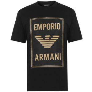 EMPORIO ARMANI GOLD LOGO T-SHIRT