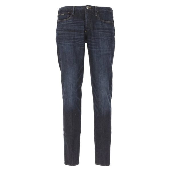 Emporio Armani-Denim Blue Jeans With Faded parts