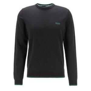HUGO BOSS-RIMEX SWEATER-BLACK / GREEN
