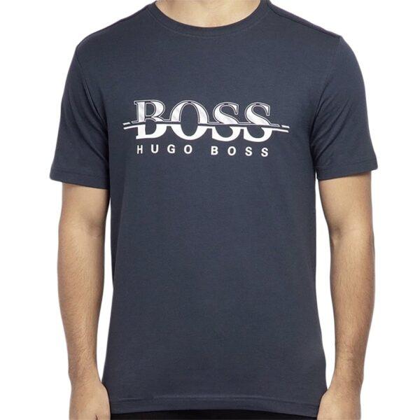HUGO BOSS-T- SHIRT -NAVY/ WHITE