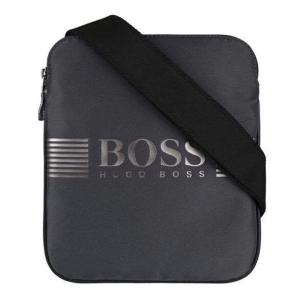 Hugo Boss - PIXAL ML_S ZIP BAG - DARK GREY