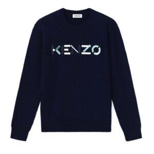 KENZO NAVY SWEATER COLOUR LOGO