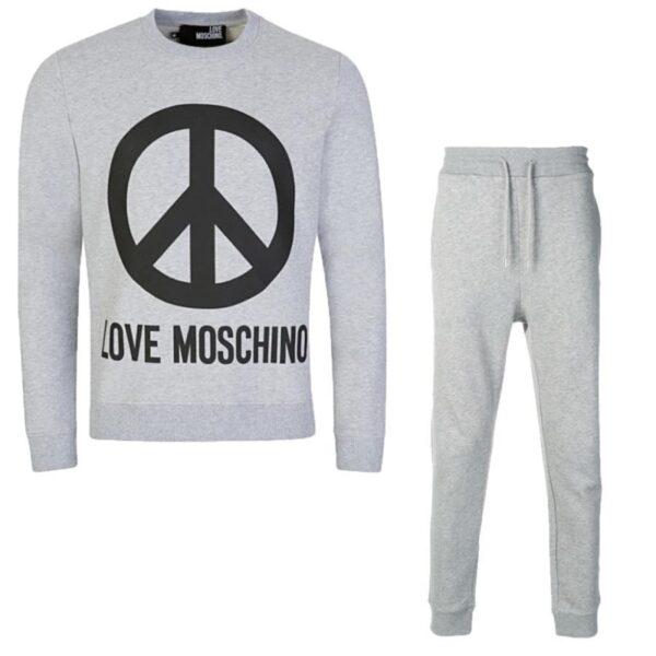 LOVE MOSCHINO - PEACE TRACKSUIT SET - GREY