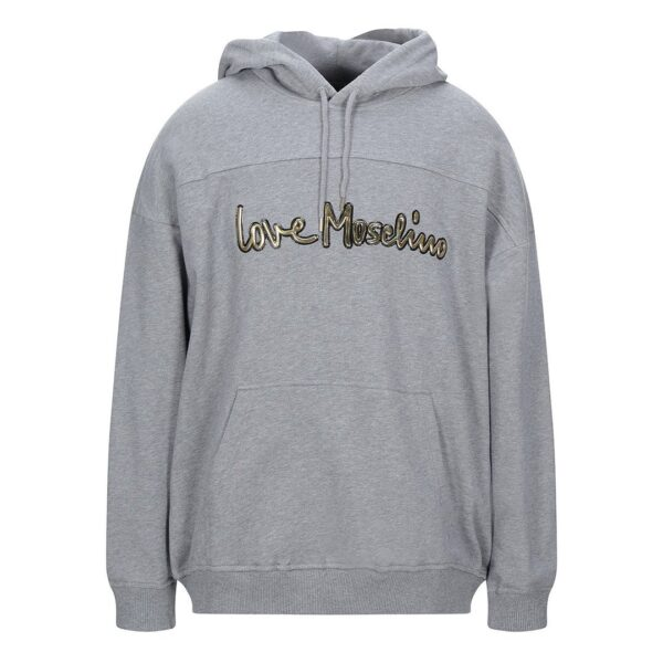 LOVE MOSCHINO HOODIE WITH GOLD LOGO