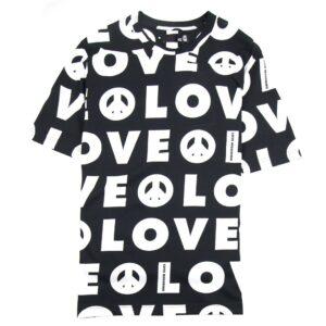LOVE MOSCHINO LOGO PRINT T-SHIRT BLACK/WHITE
