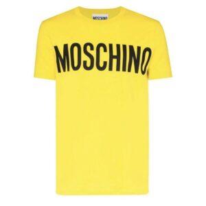MOSCHINO LOGO PRINT -SHIRT - YELLOW