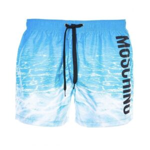 MOSCHINO OCEAN PRINT SWIM SHORTS