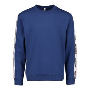MOSCHINO TAPE CREW NECK SWEATER IN BLUE