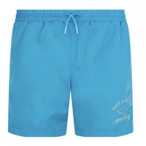 PAUL & SHARK -LOGO SWIM SHORTS - LIGHT BLUE