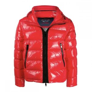 PAUL & SHARK QUILTED PUFFER JACKET WITH REMOVABLE SLEEVES-RED