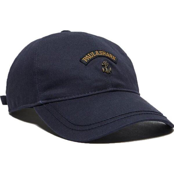 PAUL & SHAR - ANCHOR WOVEN CAP - NAVY