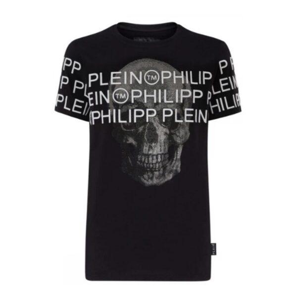 PHILIPP PLEIN - LOGO ACROSS W SS - BLACK