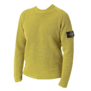 STONE ISLAND - KNITTED JUMPER IN MUSTARD YELLOW
