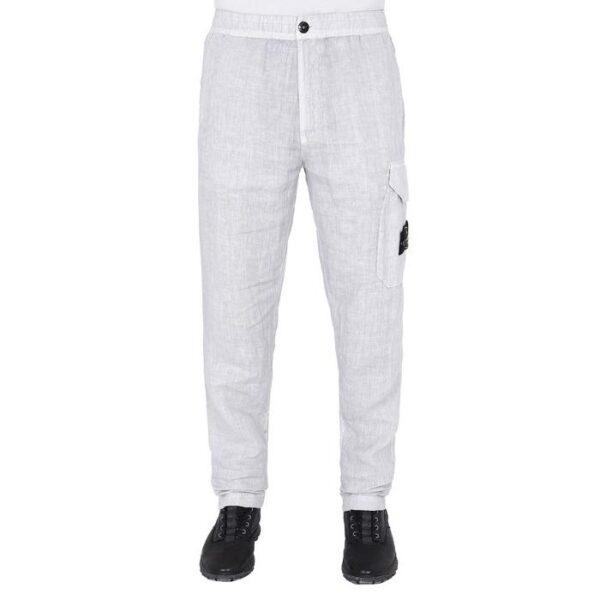 STONE ISLAND - WHITE CARGO PANTS