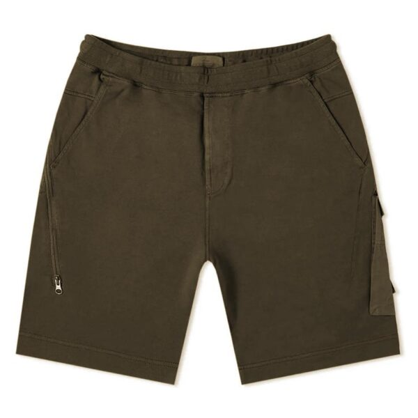 STONE ISLAND GOST PIECE SHORTS - MILITARY GREEN
