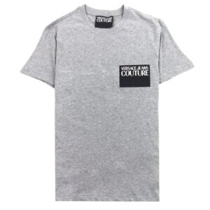 VERSACE JEANS COUTURE GREY T-SHIRT POCKET LOGO