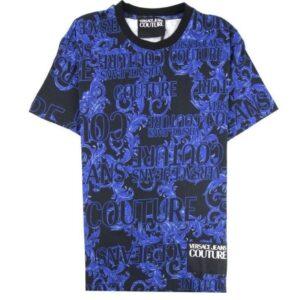 VERSACE JEANS COUTURE PRINT BAROQUE BLACK/BLUE