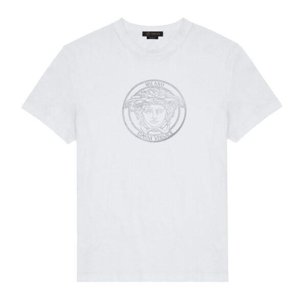 VERSACE MEDUSA T-SHIRT WHITE/SILVER