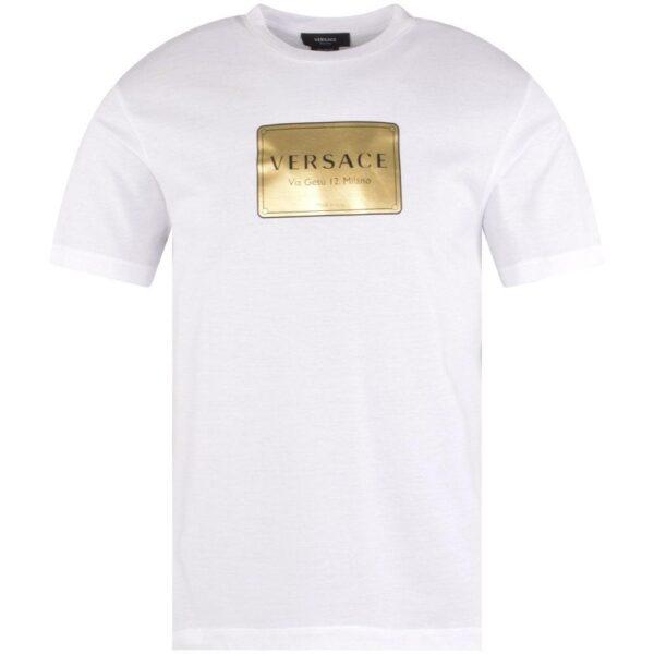 VERSACE T-SHIRT WHITE/GOLD