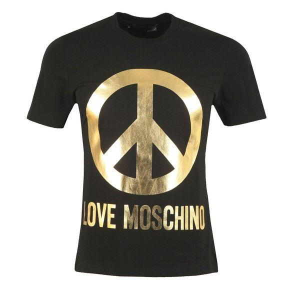 LOVE MOSCHINO LOGO BLACK AND GOLD