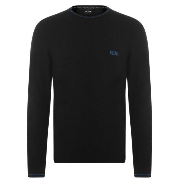 Hugo Boss SWEATER BLACK WITH BLUE LOGO