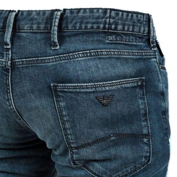 Emporio Armani-J06 Washed Denim blue Jeans