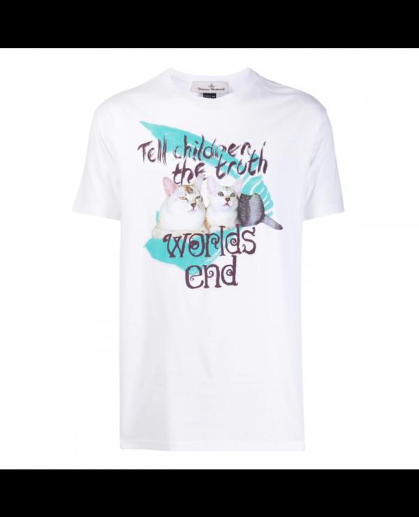 VIVENNE WESTWOOD - CAT PRINT T-SHIRT - WHITE