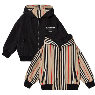BURBERRY JUNIOR TOMMY ICON REVERSIBLE HOODED JACKET